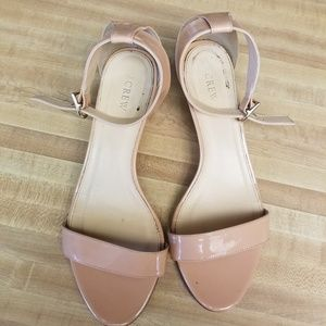 J.crew Nude mini-wedges sandals Size 10